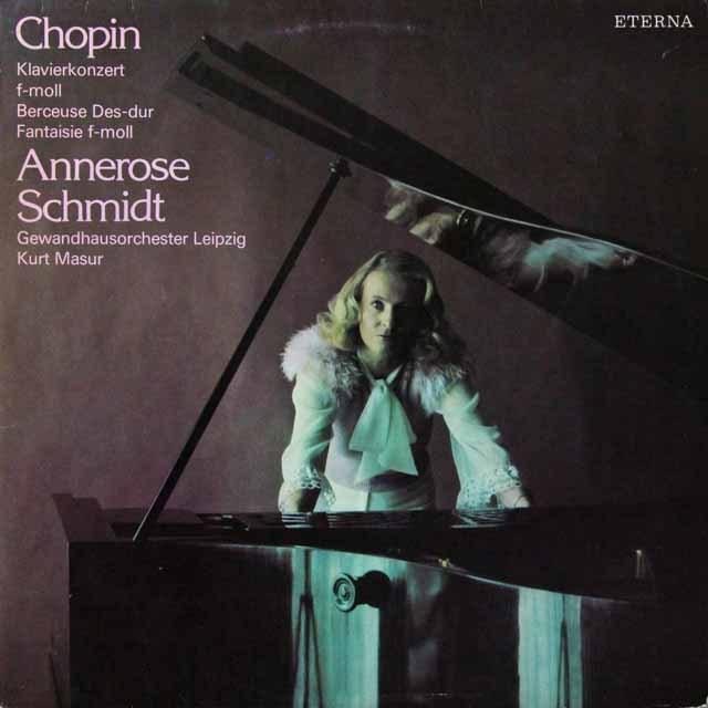 シュミット&マズアのショパン/ピアノ協奏曲第2番ほか 独ETERNA 3222 LP レコード