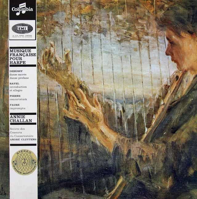 シャラン&クリュイタンス「ハープのためのフランス音楽」 仏Columbia 3017 LP レコード