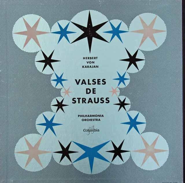カラヤンのJ.シュトラウス・コンサート 仏Columbia 3017 LP レコード