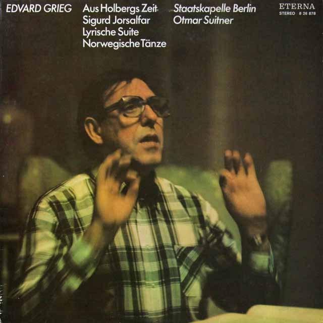 スウィトナーのグリーグ/組曲「ホルベアの時代から」ほか 独ETERNA 3222 LP レコード