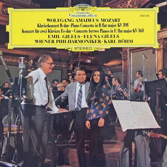 ギレリス父娘&ベームのモーツァルト/2台のピアノのための協奏曲ほか 独DGG 3035 LP レコード
