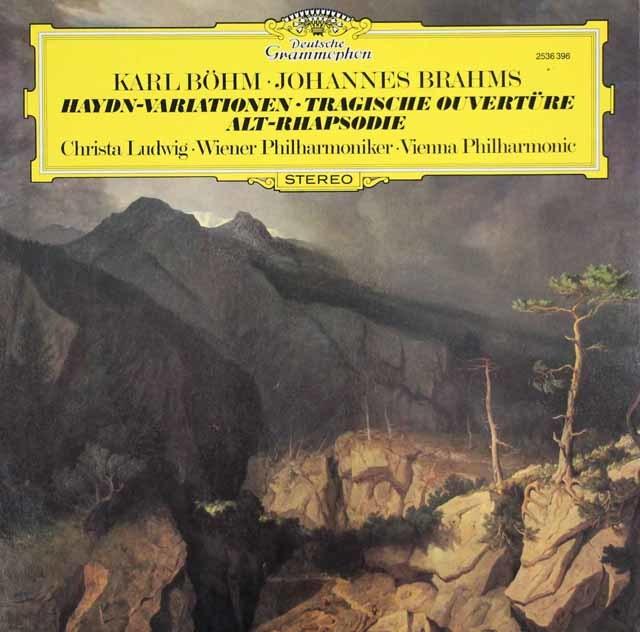 ベームのブラームス/ハイドンの主題による変奏曲ほか 独DGG 3035 LP レコード