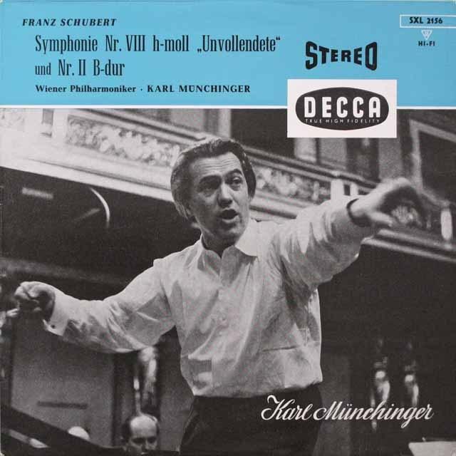 ミュンヒンガーのシューベルト/交響曲第8番「未完成」ほか  独DECCA  2634 LP レコード
