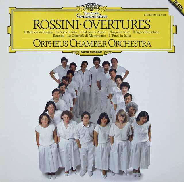 オルフェウス室内管弦楽団のロッシーニ/序曲集 独DGG 2928 LP レコード