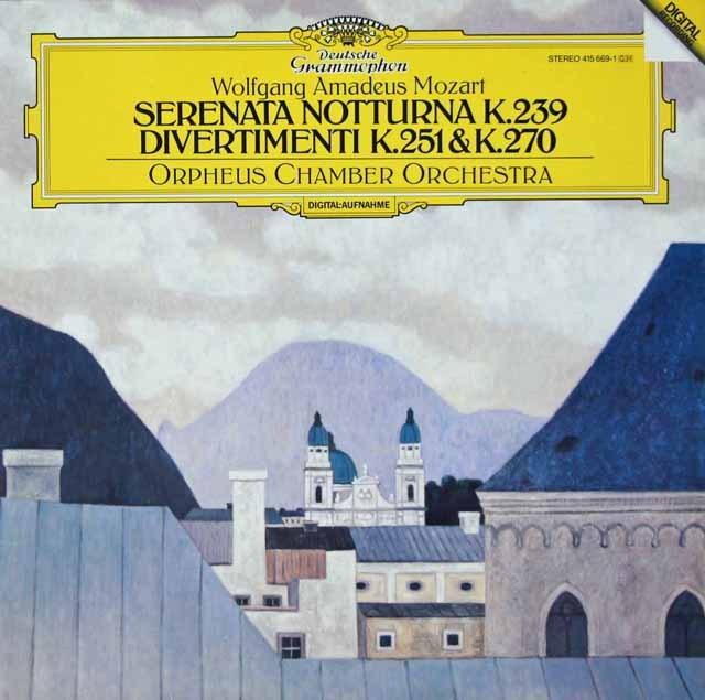 オルフェウス室内管弦楽団のモーツァルト/「セレナータ・ノットゥルナ」ほか 独DGG 2928 LP レコード