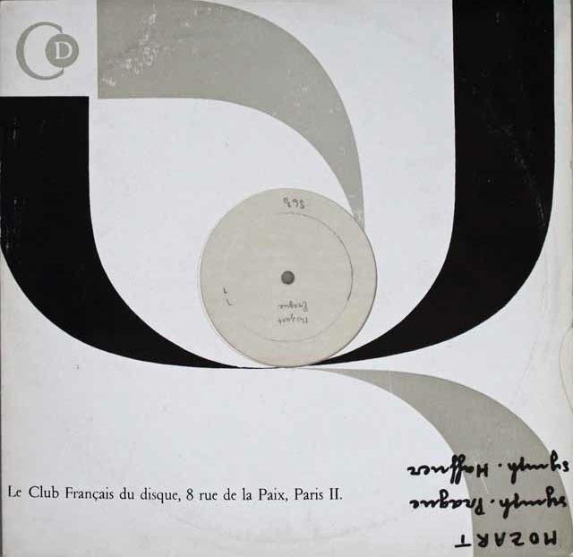 【モノラル・テストプレス】 ヴァントのモーツァルト/交響曲第38番《プラハ》、第35番《ハフナー》  グラブ・フランセ 3227 LP レコード