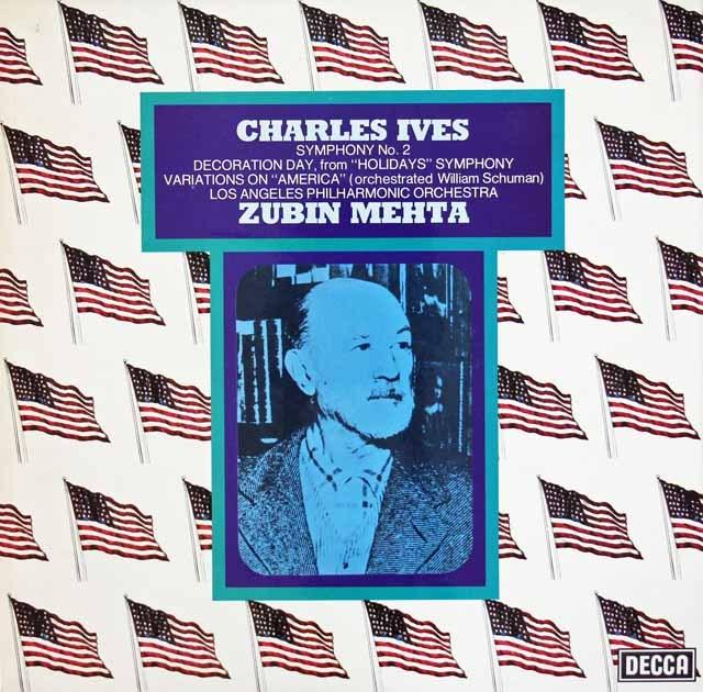 【オリジナル盤】 メータのアイヴス/交響曲第2番ほか 英DECCA 3017 LP レコード