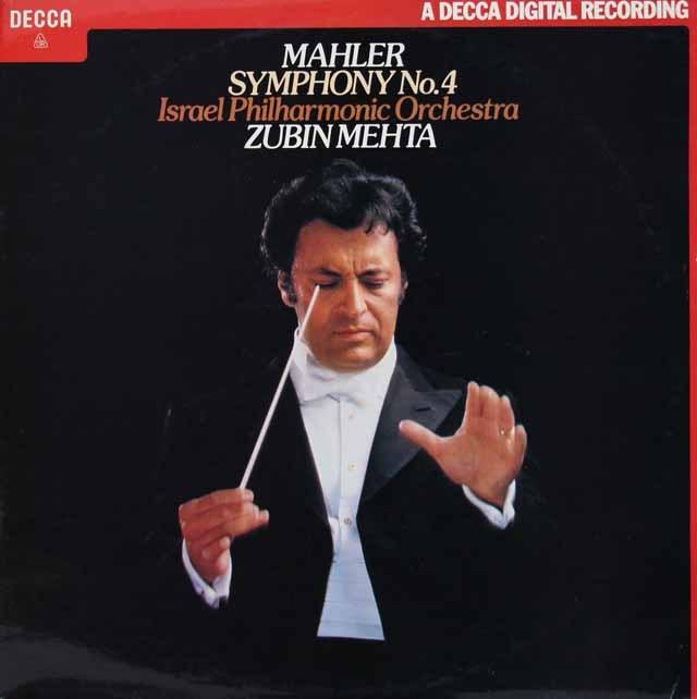 【オリジナル盤】メータのマーラー/交響曲第4番 英DECCA 3017 LP レコード