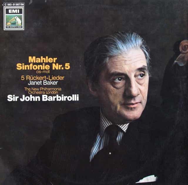 バルビローリのマーラー/交響曲第5番 独EMI 3035 LP レコード