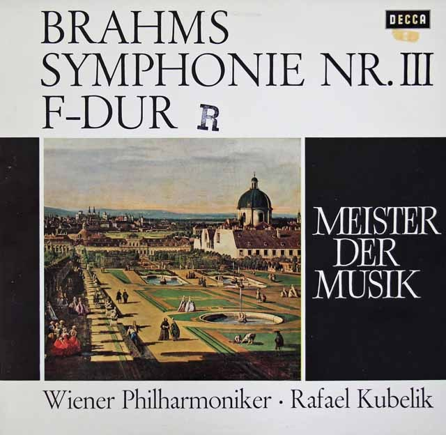 クーベリックのブラームス/交響曲第3番   独DECCA 3017 LP レコード
