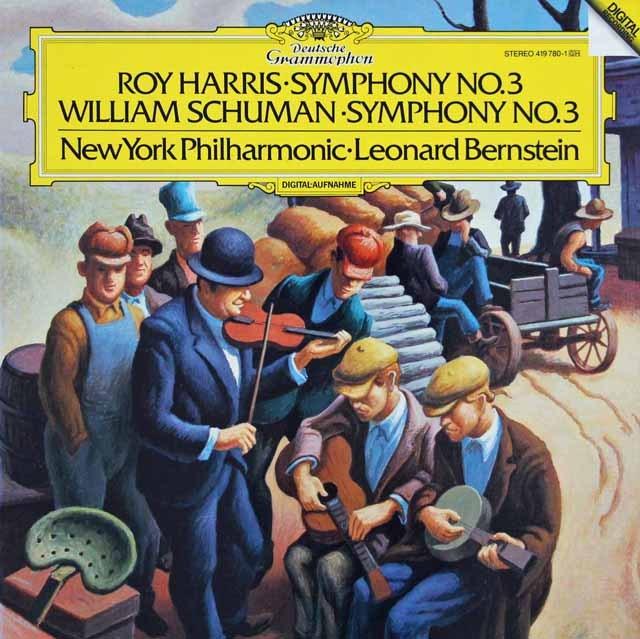 バーンスタインのハリス&W.シューマン/交響曲集 独DGG 3285 LP レコード