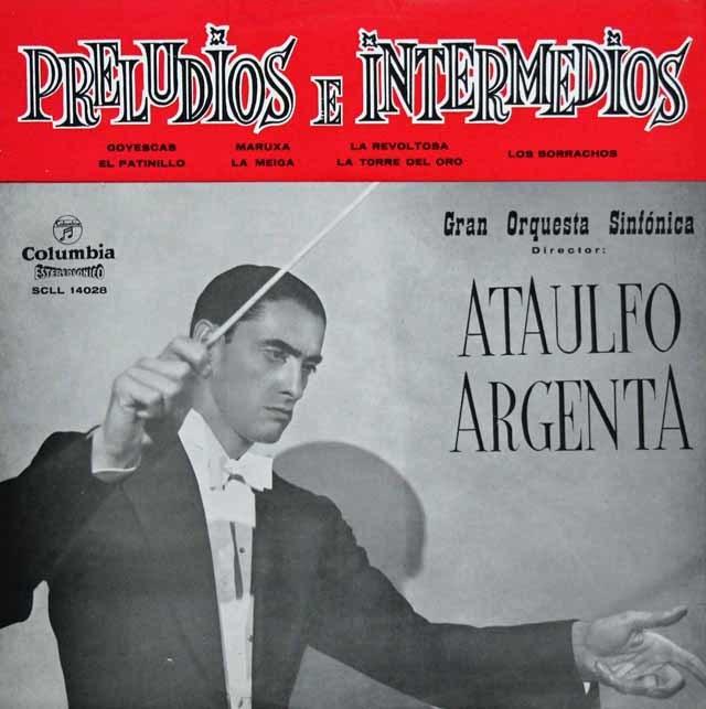 アルヘンタの前奏曲と間奏曲集 スペインColumbia 3035 LP レコード