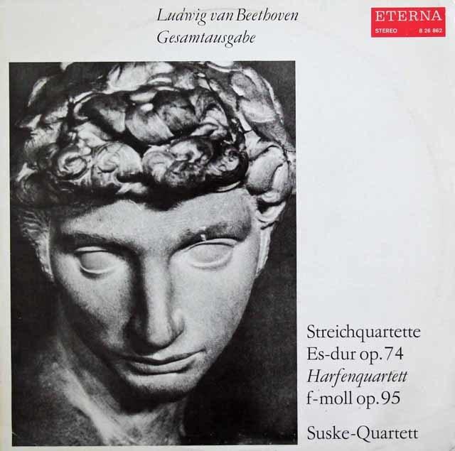 ズスケ四重奏団のベートーヴェン/弦楽四重奏曲第10番「ハープ」&第11番「セリオーソ」 独ETERNA 3035 LP レコード