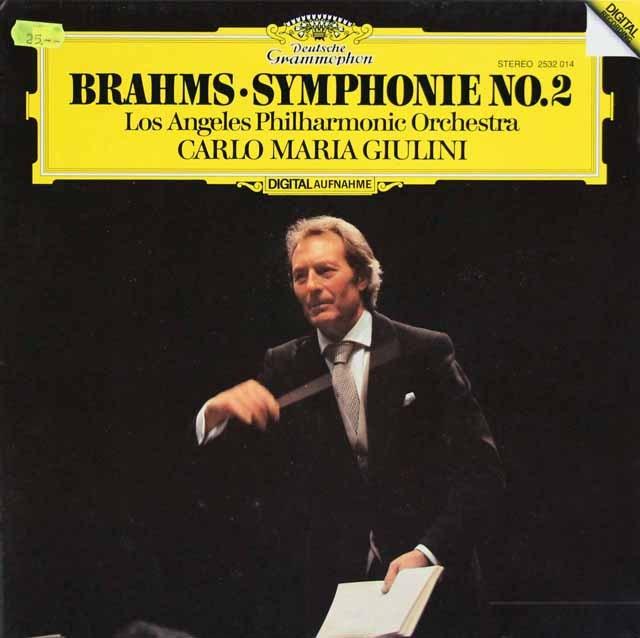 ジュリーニのブラームス/交響曲第2番  独DGG  3285 LP レコード