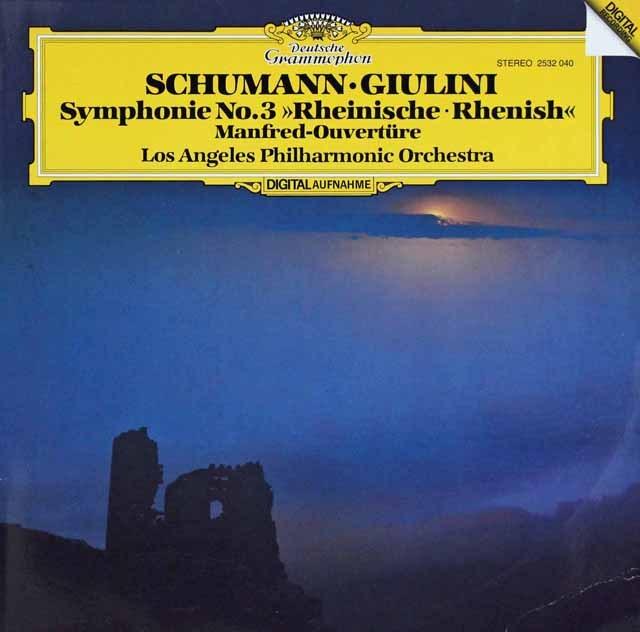 ジュリーニのシューマン/交響曲第3番「ライン」 独DGG  3285 LP レコード