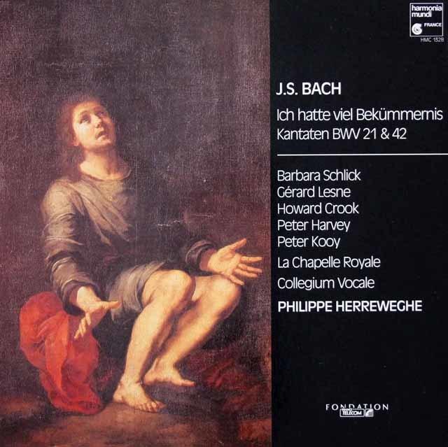 ヘレヴェッヘのバッハ/教会カンタータ第21&24番 独HM 3035 LP レコード