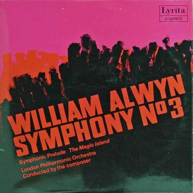 オルウィン自作自演/交響曲第3番&「魔法の島」 英Lyrita 3218 LP レコード