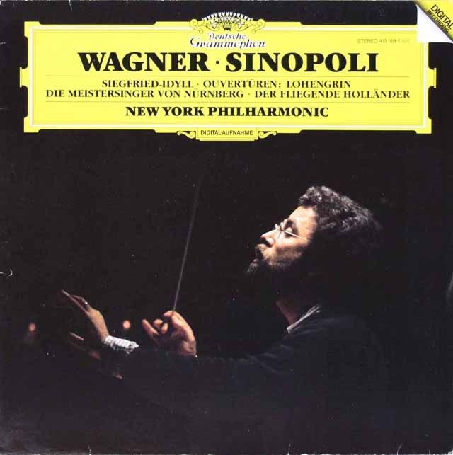 シノーポリのワーグナー/「マイスタージンガー」第一幕への前奏曲ほか 独DGG 2928 LP レコード
