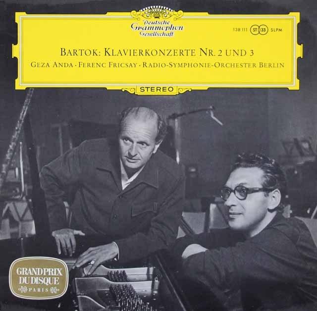 アンダ&フリッチャイのバルトーク/ピアノ協奏曲第2&3番 独DGG 3017 LP レコード