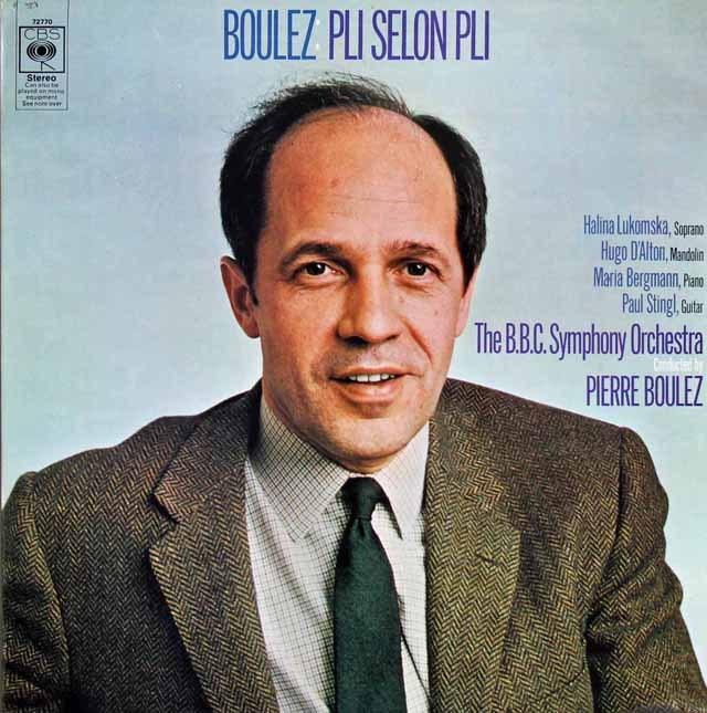 ブーレーズ自作自演/「プリ・スロン・プリ」 英CBS 3218 LP レコード