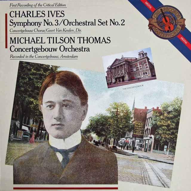 ティルソン・トーマスのアイヴス/交響曲第3番「キャンプ・ミーティング」ほか 蘭CBS 3218 LP レコード