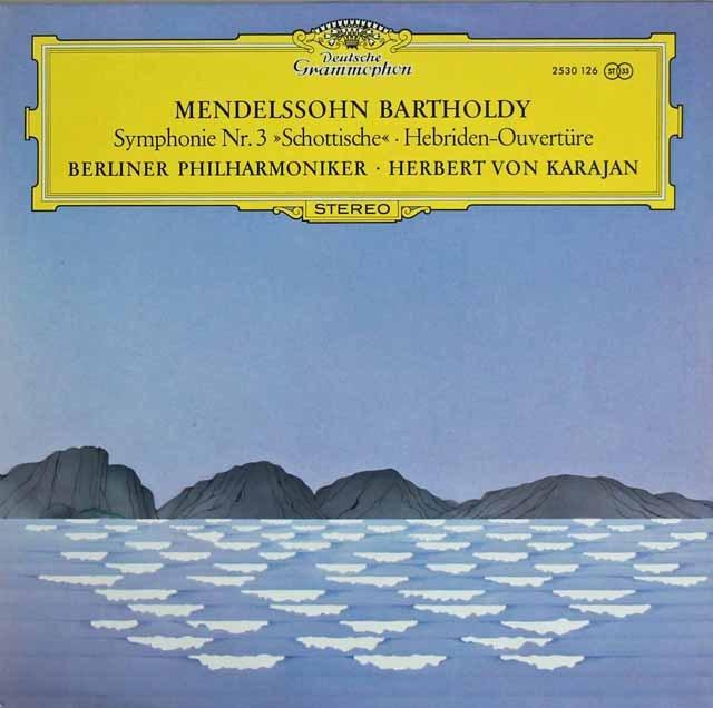 カラヤンのメンデルスゾーン/交響曲第3番「スコットランド」ほか 独DGG 3218 LP レコード