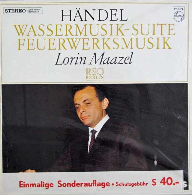【未開封】 マゼールのヘンデル/「水上の音楽」組曲&「王宮の花火」 蘭PHILIPS 3035 LP レコード