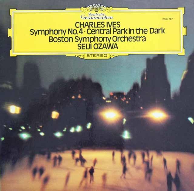 小澤のアイヴス/「宵闇のセントラルパーク」&交響曲第4番 独DGG 3218 LP レコード