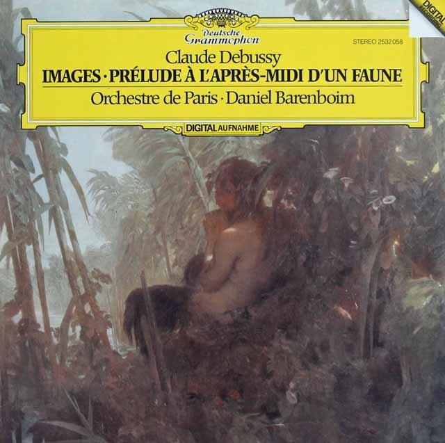 バレンボイムのドビュッシー/「牧神の午後への前奏曲」「映像」 独DGG 3218 LP レコード