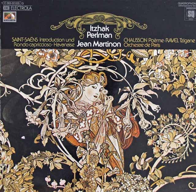 パールマン&マルティノンのラヴェル/ツィガーヌほか 独EMI 3218 LP レコード
