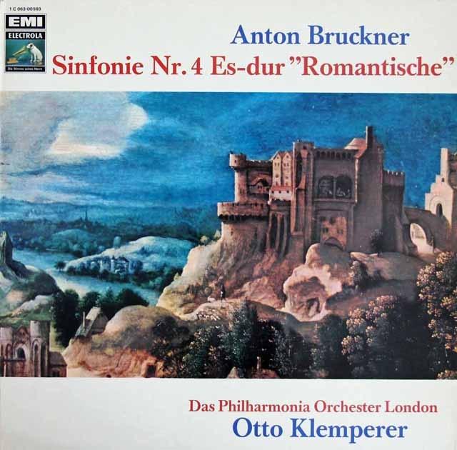 クレンペラーのブルックナー/交響曲第4番「ロマンティック」 独EMI 3218 LP レコード