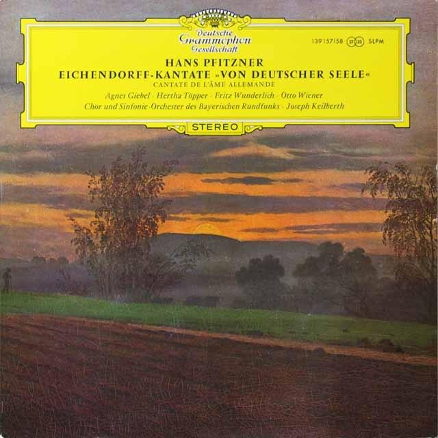 カイルベルトのプフィッツナー/カンタータ「ドイツ精神について」 独DGG  3221 LP レコード