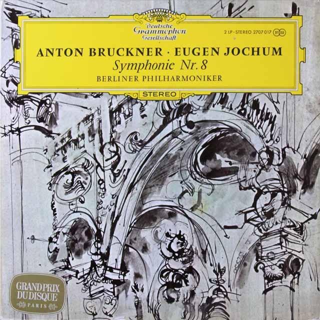 ヨッフムのブルックナー/交響曲第8番 独DGG 3221 LP レコード