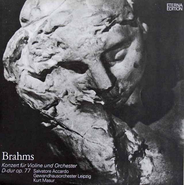 アッカルド&マズアのブラームス/ヴァイオリン協奏曲 独ETERNA 2836 LP レコード