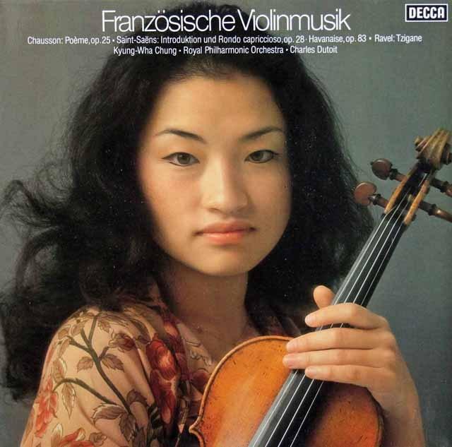 チョン&デュトワのフランス・ヴァイオリン音楽集 独DECCA 2906 LP レコード