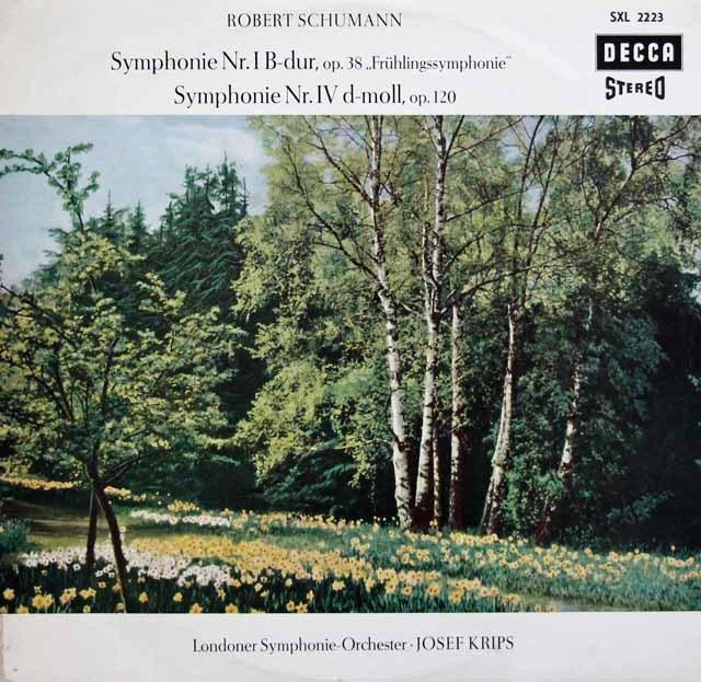 クリップスのシューマン/交響曲第1番「春」&第4番 独DECCA 3285 LP レコード