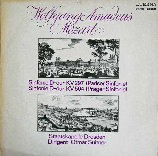スウィトナーのモーツァルト/交響曲第31番「パリ」&第38番「プラハ」 独ETERNA 3218 LP レコード