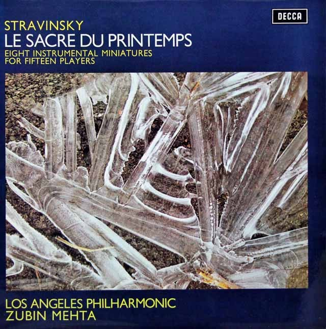 メータのストラヴィンスキー/「春の祭典」 英DECCA 3285 LP レコード