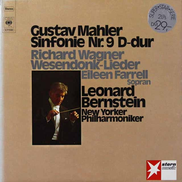 バーンスタインのマーラー/交響曲第9番ほか 独CBS 3221 LP レコード