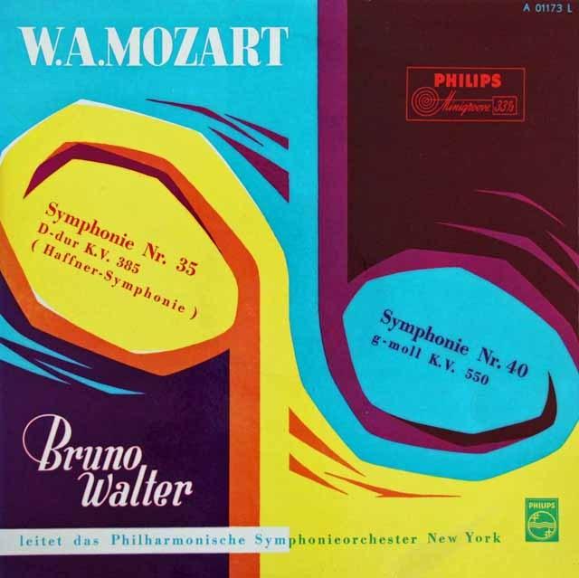 ワルターのモーツァルト/交響曲第35番「ハフナー」&第40番 独PHILIPS 2914 LP レコード