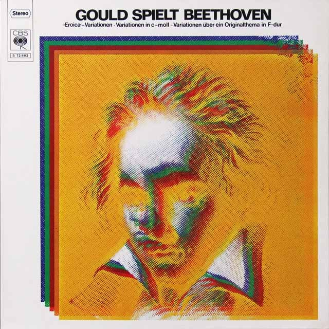 グールドのベートーヴェン/エロイカ変奏曲ほか 独CBS 3221 LP レコード