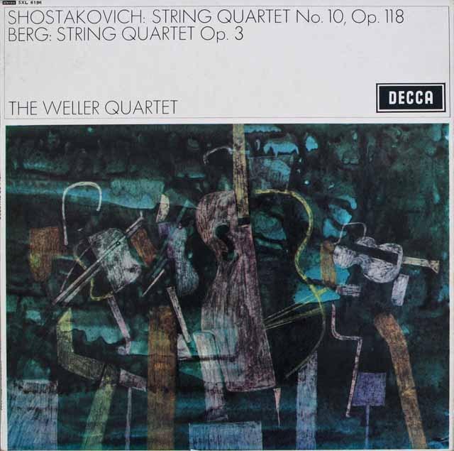 ウェラー四重奏団のベルク/弦楽四重奏曲ほか 英DECCA オリジナル盤