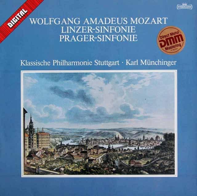 ミュンヒンガーのモーツァルト/交響曲第36番「リンツ」&第38番「プラハ」 独Intercord 2836 LP レコード