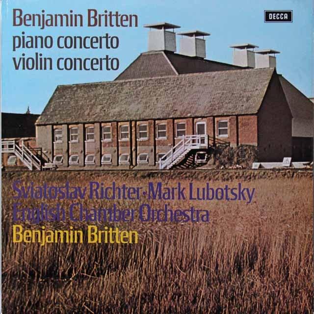 【オリジナル盤】 リヒテル、ルボツキー&ブリテンのブリテン/協奏曲集 英DECCA 3221 LP レコード