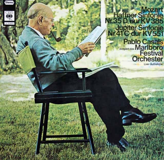 カザルスのモーツァルト/交響曲第35番「ハフナー」&第41番「ジュピター」  独CBS  3284 LP レコード
