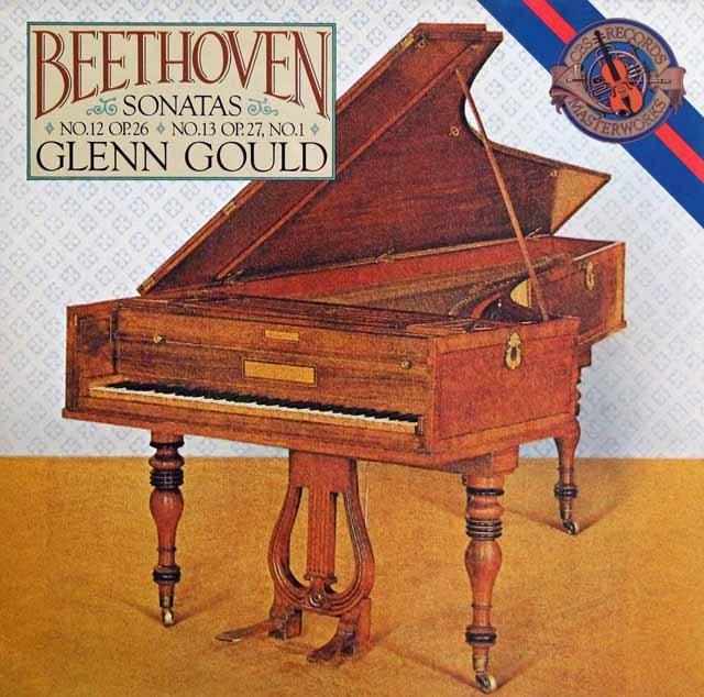 グールドのベートーヴェン/ピアノソナタ第12&13番 蘭CBS 3284 LP レコード