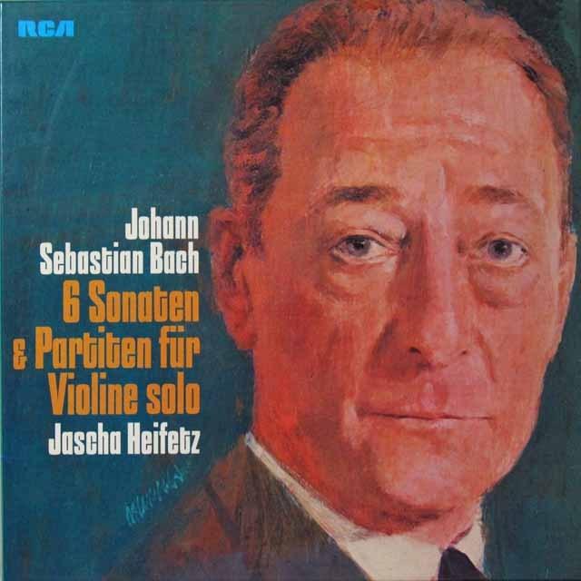 ハイフェッツのバッハ/無伴奏ヴァイオリンのためのソナタ&パルティータ集 独RCA 2703 LP レコード