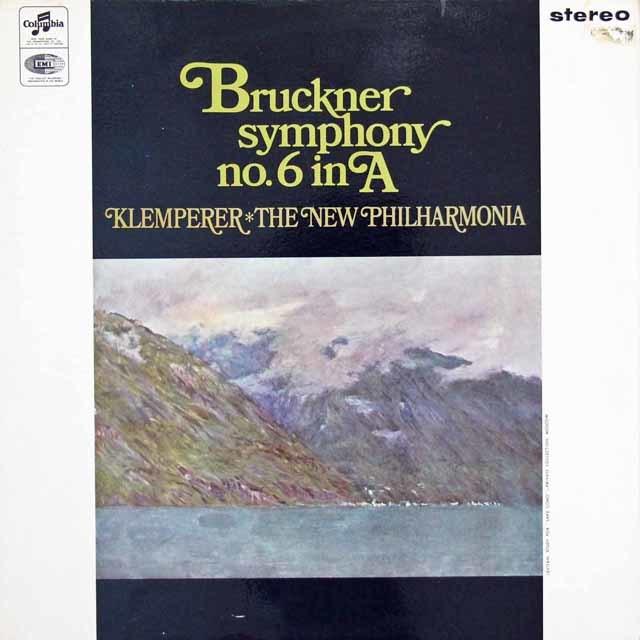 【オリジナル盤】 クレンペラーのブルックナー/交響曲第6番 英Columbia 3025 LP レコード