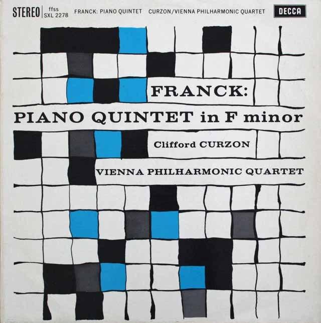 【オリジナル盤】 カーゾン&ウィーンフィル四重奏団のフランク/ピアノ五重奏曲 英DECCA 3229 LP レコード