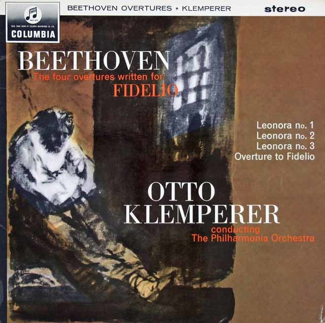 【オリジナル盤】 クレンペラーのベートーヴェン/「レオノーレ」序曲第1~3番&「フィデリオ」序曲 英Columbia 3025 LP レコード